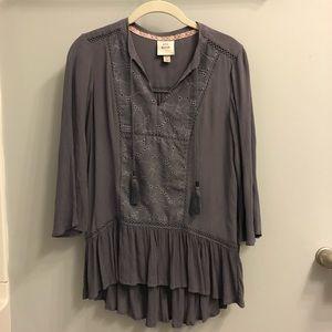 Purple Gray Blouse